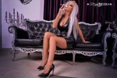 Mistress-Saida-in-latex-and-heels-smoking-MARKED