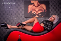 Mistress-Saida-in-red-and-heels-MARKED